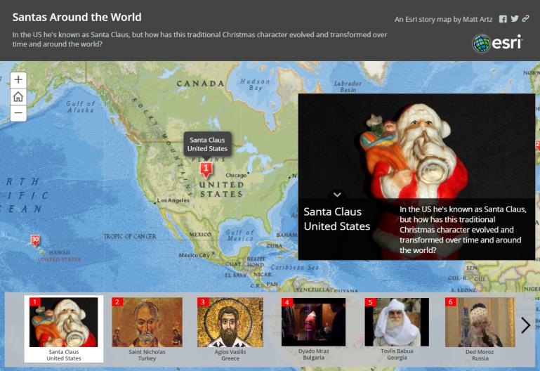 Santas around the world