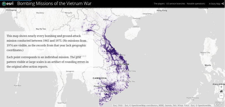 bombing wissions of the vietnam war