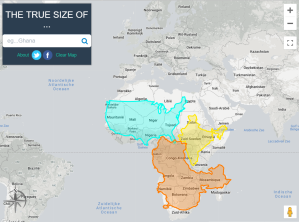 the true size